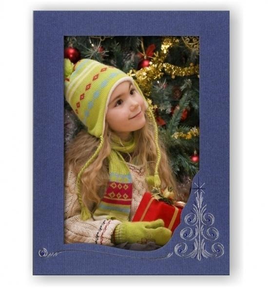 Vánoční papírový fotorámeček RV102