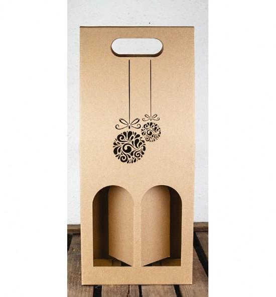 Dvojitá krabice na víno - DKVH029