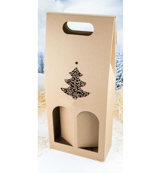 Dvojitá krabice na víno - DKVH706