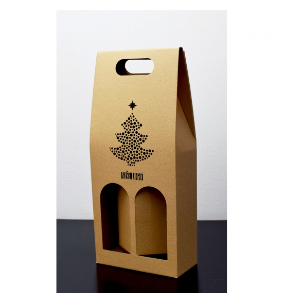 Dvojitá krabice na víno - DKVH754