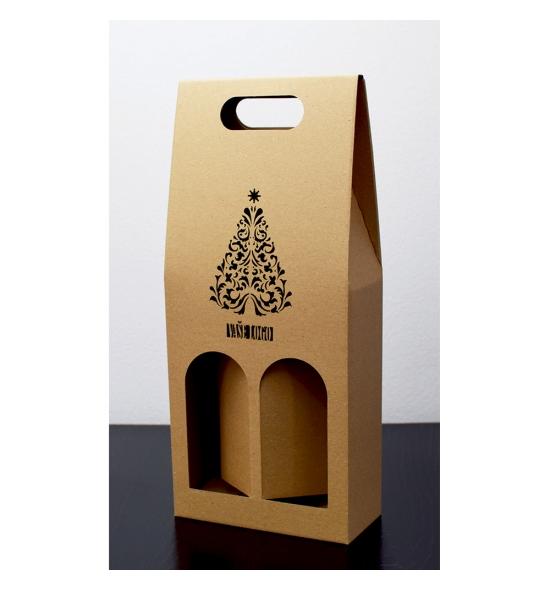 Dvojitá krabice na víno - DKVH908