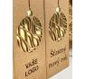 Krabice na víno - KVH9006-90-zlatá