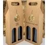 Krabice na víno - KVH9006 zlatá - 2 lahve