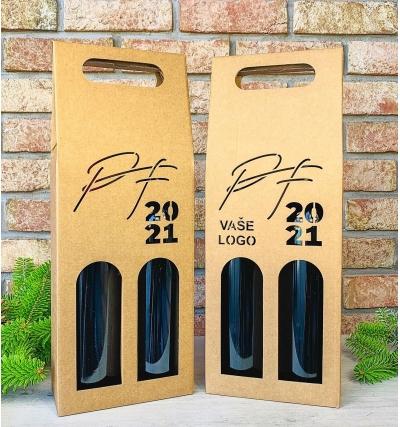 Krabice na víno - K71-2117 - 2 láhve