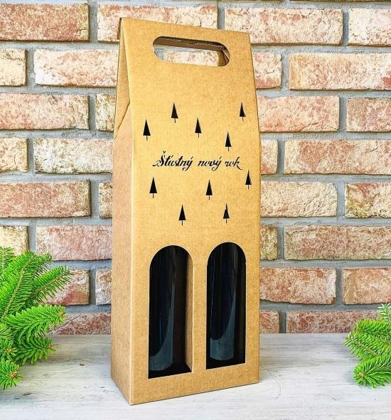 Krabice na víno - K71-2133 - 2 láhve