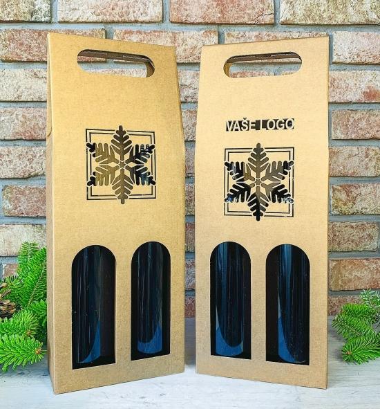 Krabice na víno - K71-9010 - 2 láhve