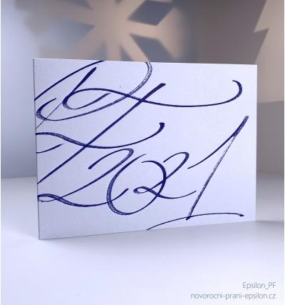 Novoroční přání - PF 2021 – Kaligrafie H20-150