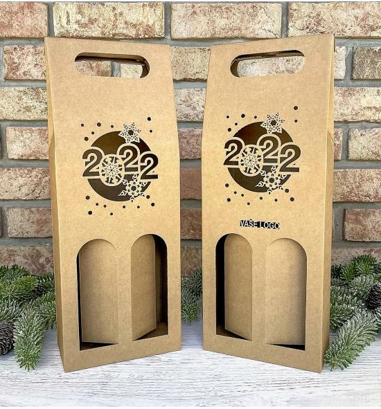 Krabice na víno - K71-9016 - 2 láhve