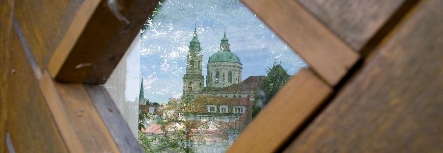 Novoroční přání s motivem Prahy